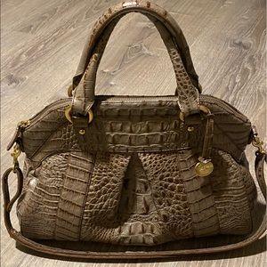 EUC Brahmin Louise roses satchel